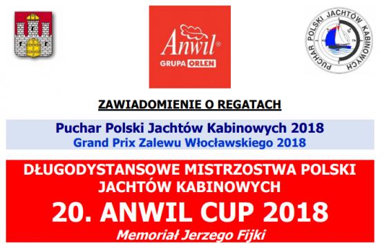 Długodystansowe Mistrzostwa Polski Jachtów Kabinowych  20 ANWIL CUP 2018